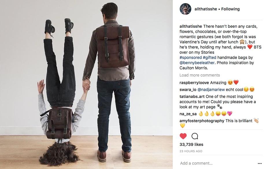 Instagram influencer Dominique Davis with BennyBee rucksack