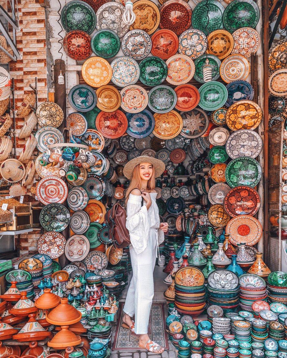 taramilktea instagram Marrakesh photo with Bennybee handmade rucksack