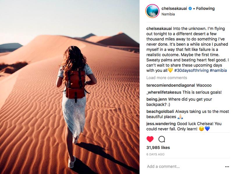 Instagram Influencer from Hawaii with BennyBee rucksack