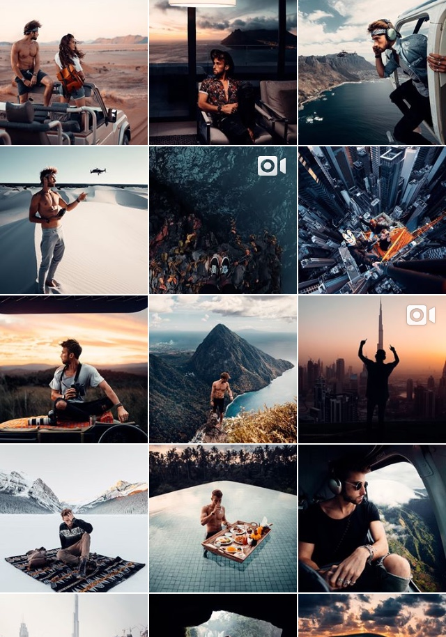 Sam Kolder travel instagram feed