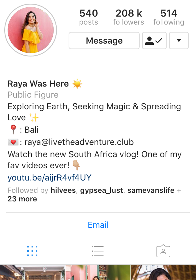 @rayawas here instagram profile