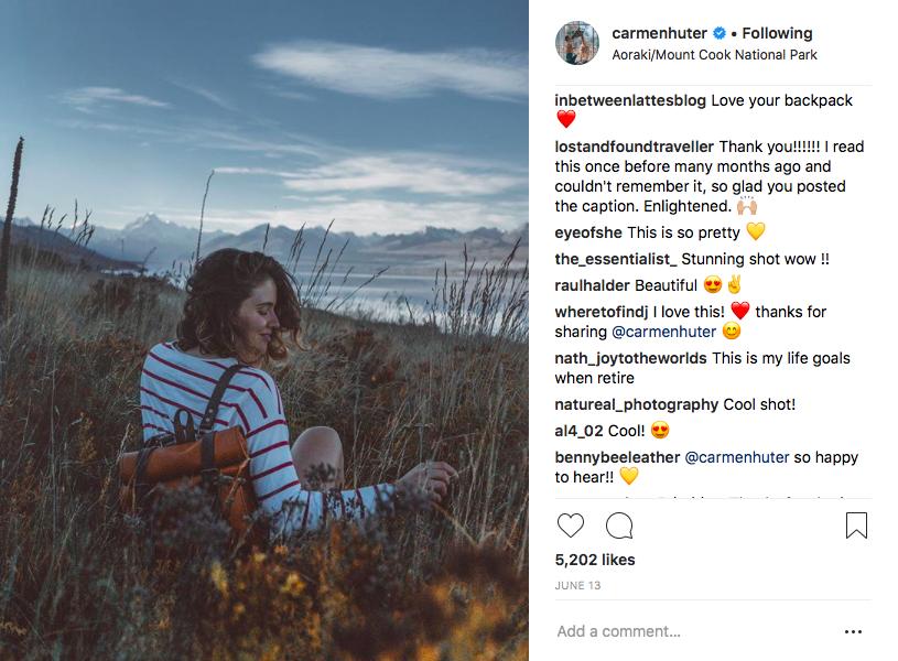 BennyBee and Carmen Huter Instagram post