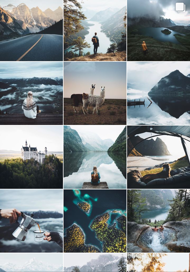Daniel Ernst travel instagram feed