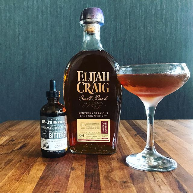 Our H&F Whiskey Society Elijah Craig Single Barrel and our Cola Bitters from our collab with @1821bitters. Just what you need to whip up the perfect cocktails. #hfbottleshop
