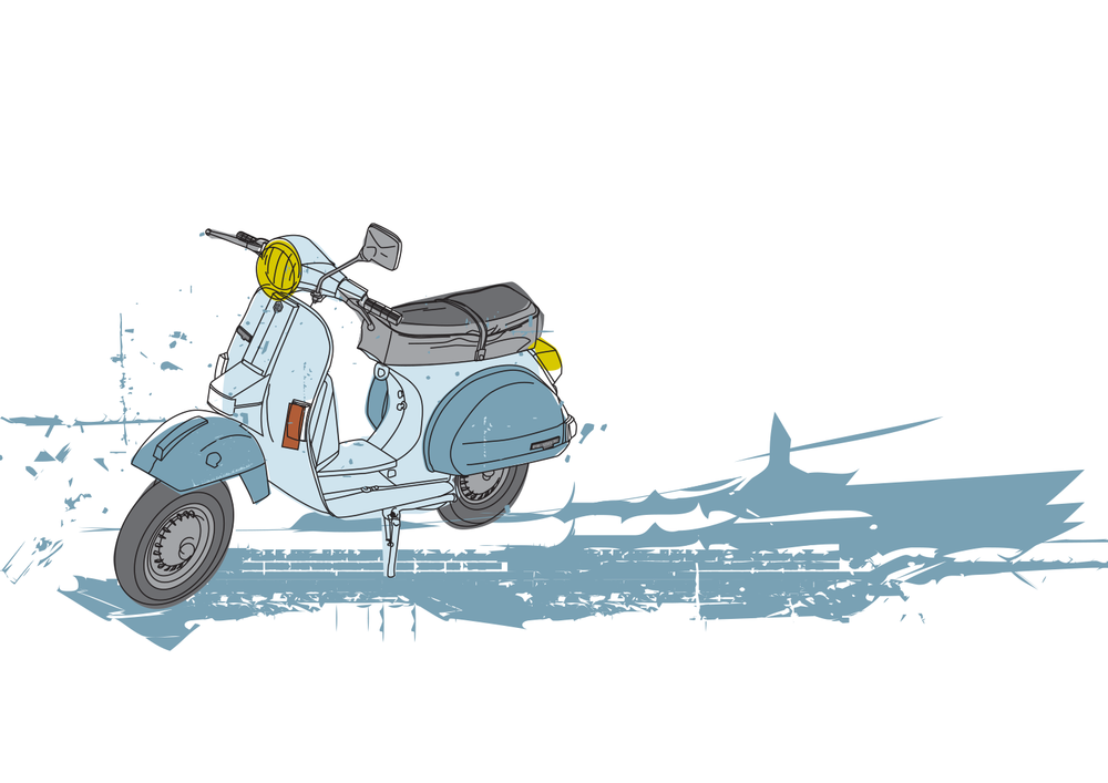 Vespa  digital illustration