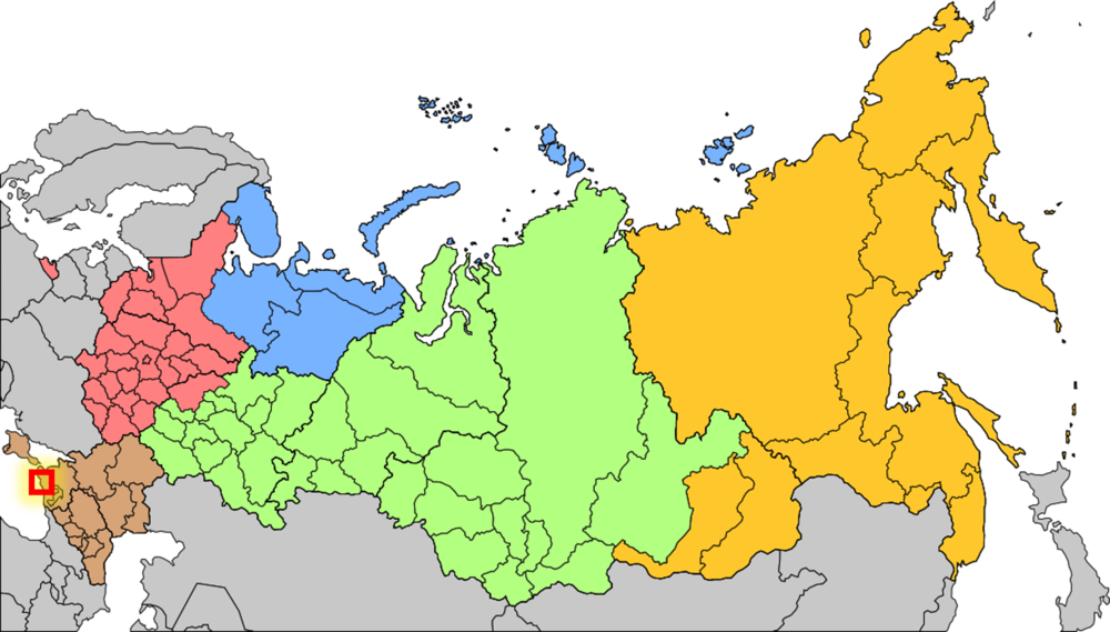 Locator Bottom-left, across from crimea