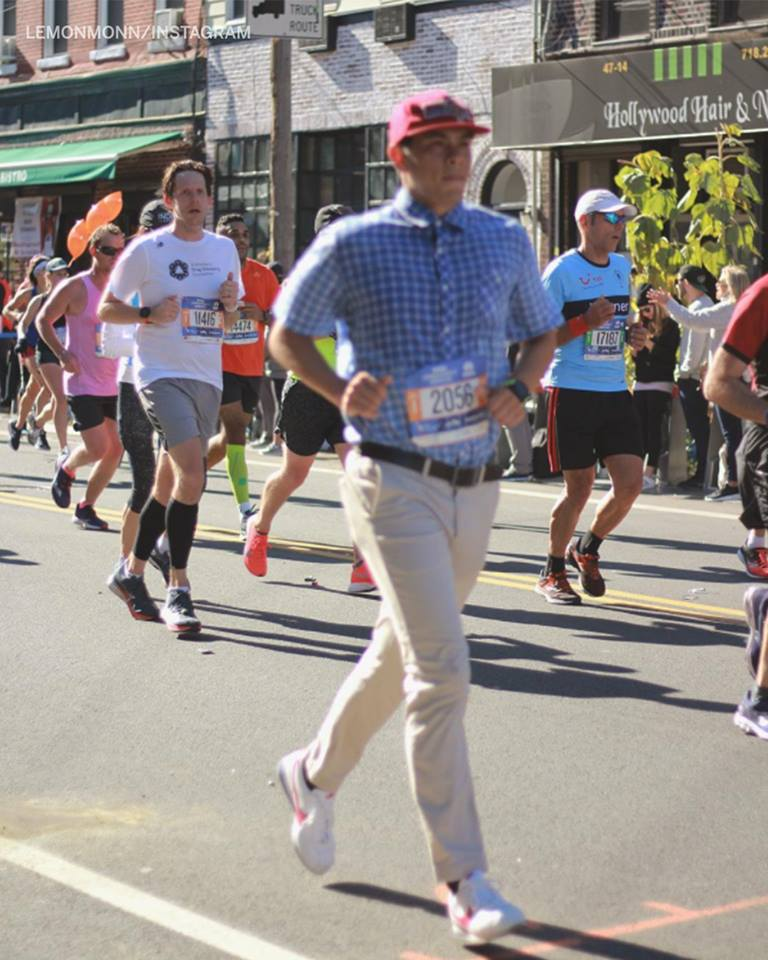 Someone ran the NYC Marathon as Forrest Gump - Ideas for the Mission 10 Miler!!!Make it your Mission!!