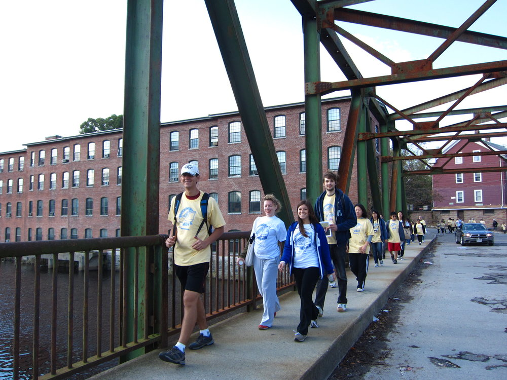 STUDENTS PARTICIPATE IN  WOONSOCKET   WALK