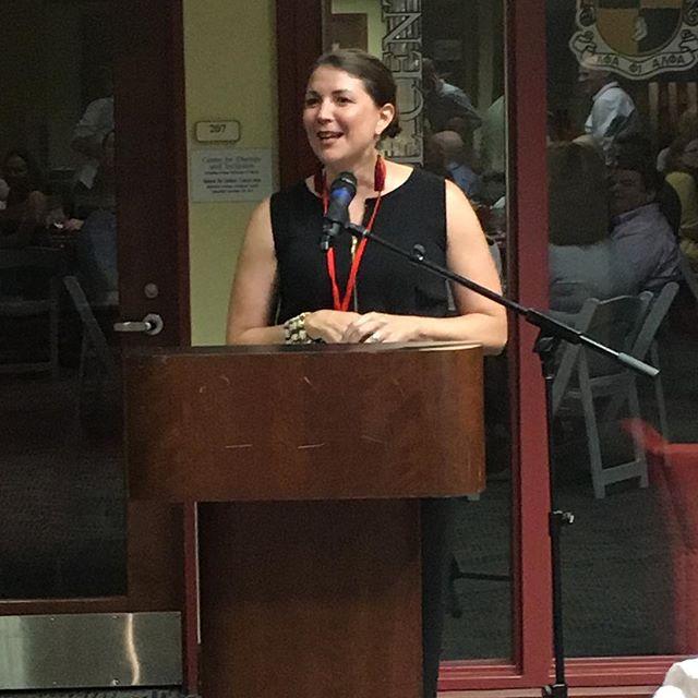 Mary Margaret Cochrane Porter delivered a beautiful invocation. #davidson20th #davidsonreunion