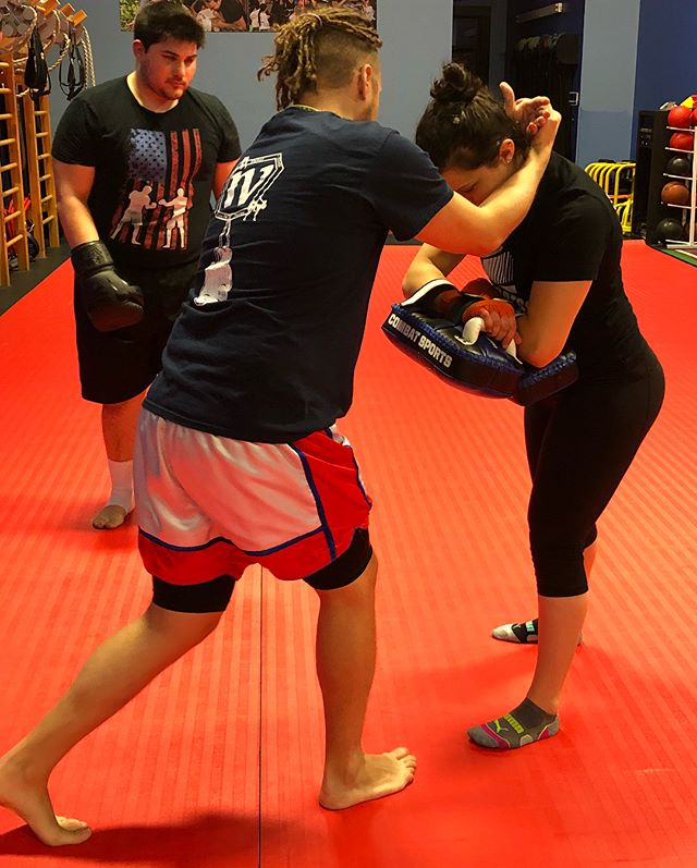 "Adult Muay Thai Class come in and check it out. Today's technique ""clinch knees""  #ClinchKnees #newclass #undrrtd #undrrtdftnss #MuayThai #closternj"