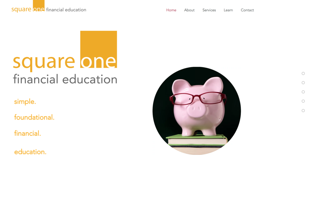 Square One Financial Education Website
