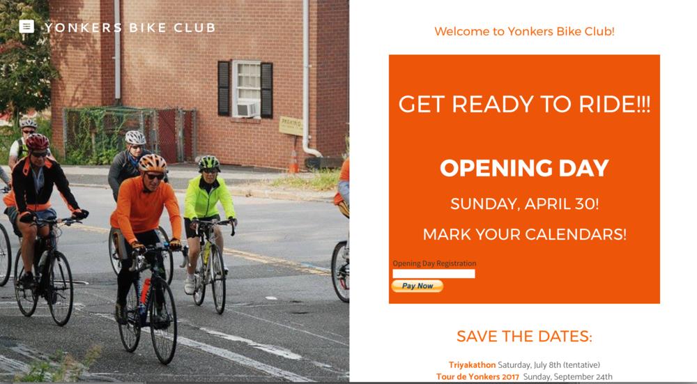 Yonkers Bike Club website