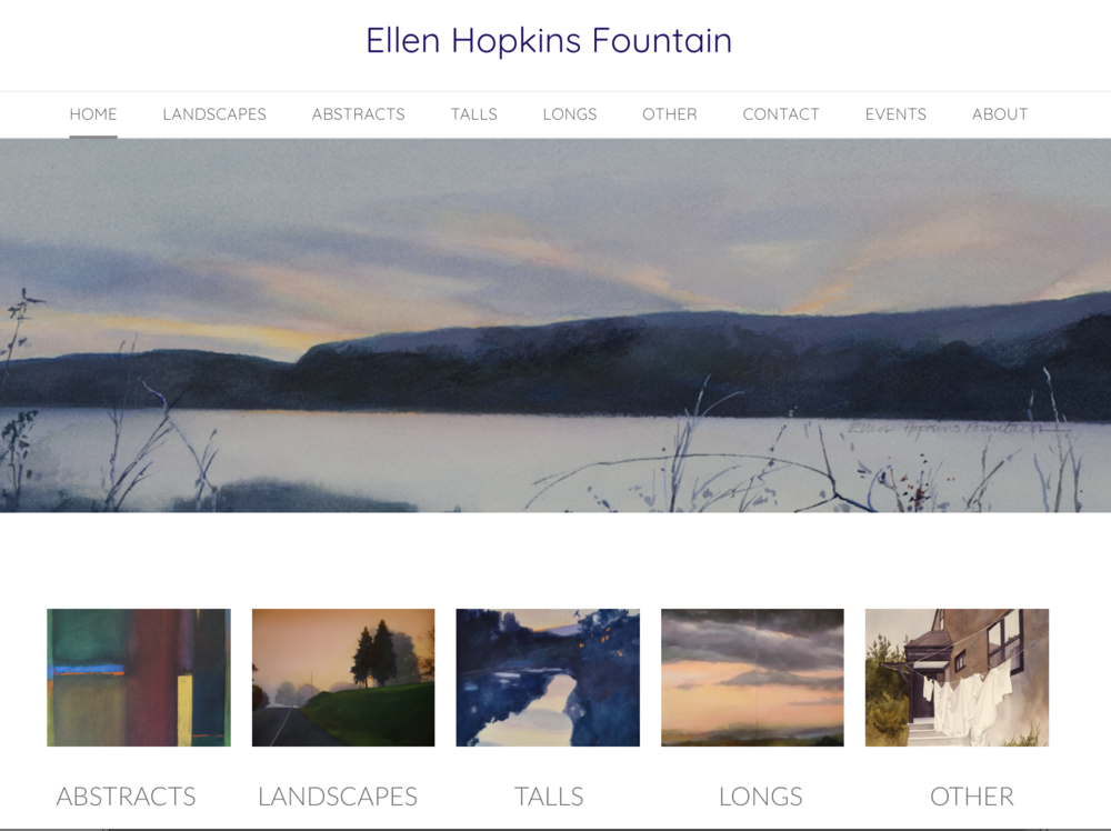 An online gallery - A portfolio presentation of an Ellen Hopkins Fountain's catalog of work.