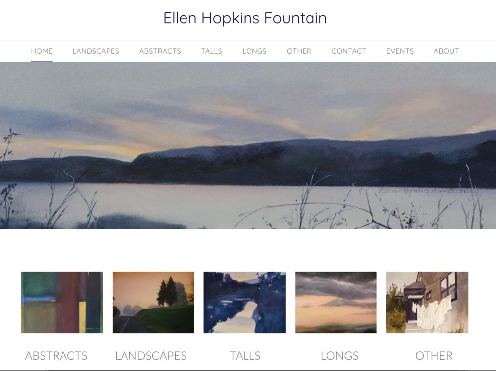 An online gallery - A portfolio presentation of an Ellen Hopkins Fountain's catalog of work.