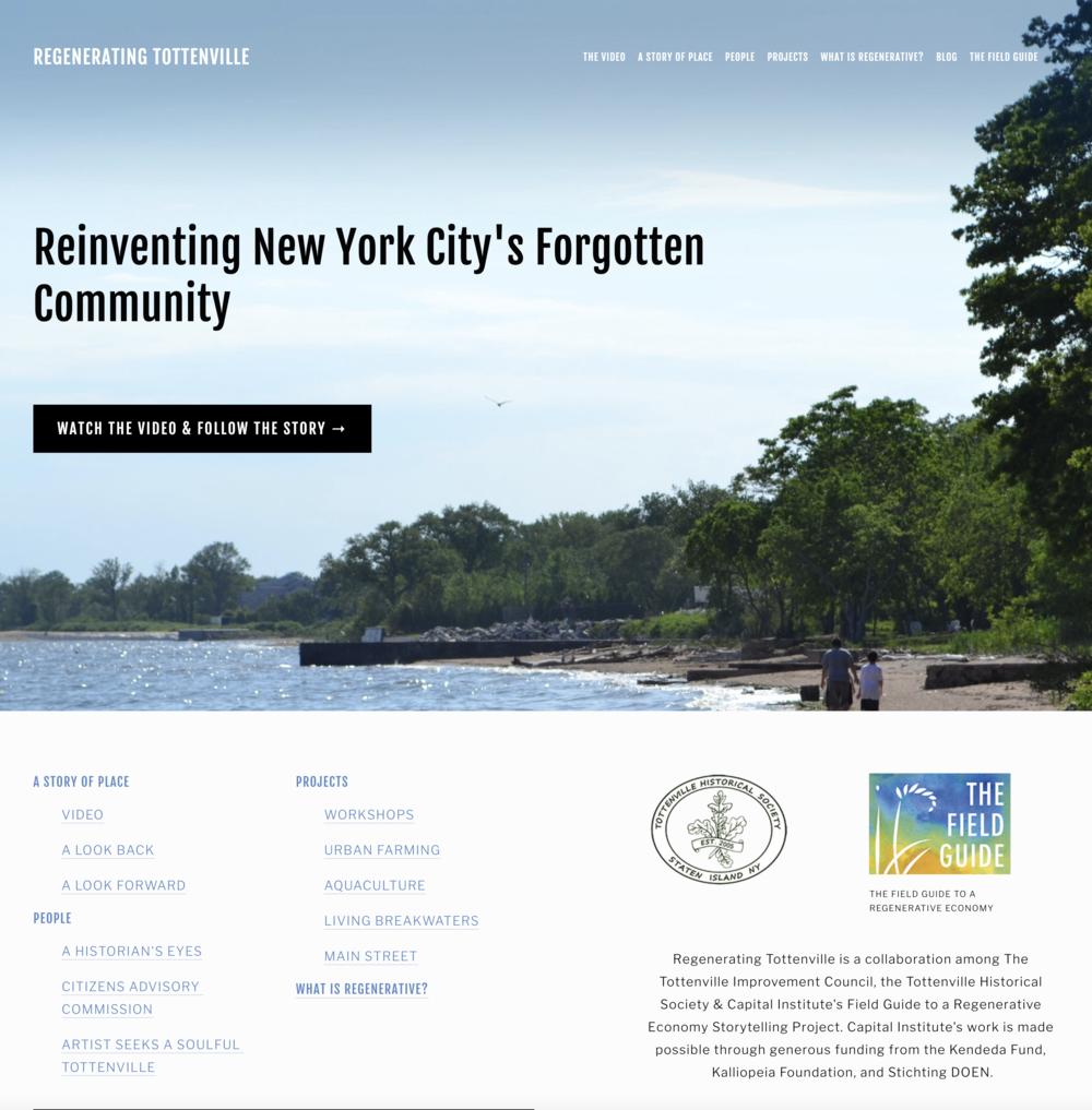 Regenerating Tottenville Website