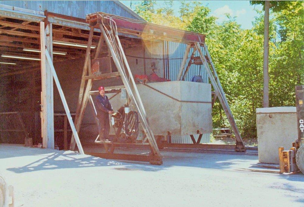 A-frame crane - built 1982