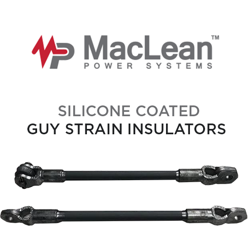 MPS Silicone Coated Guy Strain Insulators — Composite Power