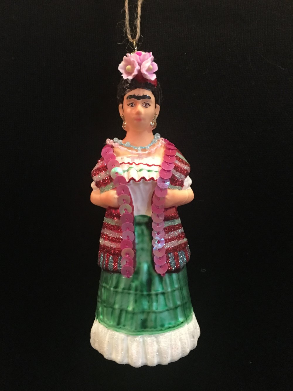 FranklinsGeneral Store - Is getting a new ornament every year part of your family tradition? If so, head on over to Franklins to pick up this beautiful Frida Kahlo ornament. $16.99