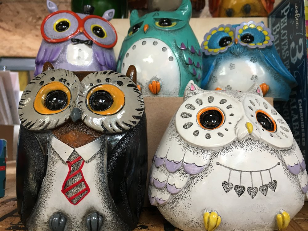 Artist & Craftsman Supply - We love everything at Artist & Craftsman, but we are dying over these owl banks! The penny saver on your list will thank you. $8.50
