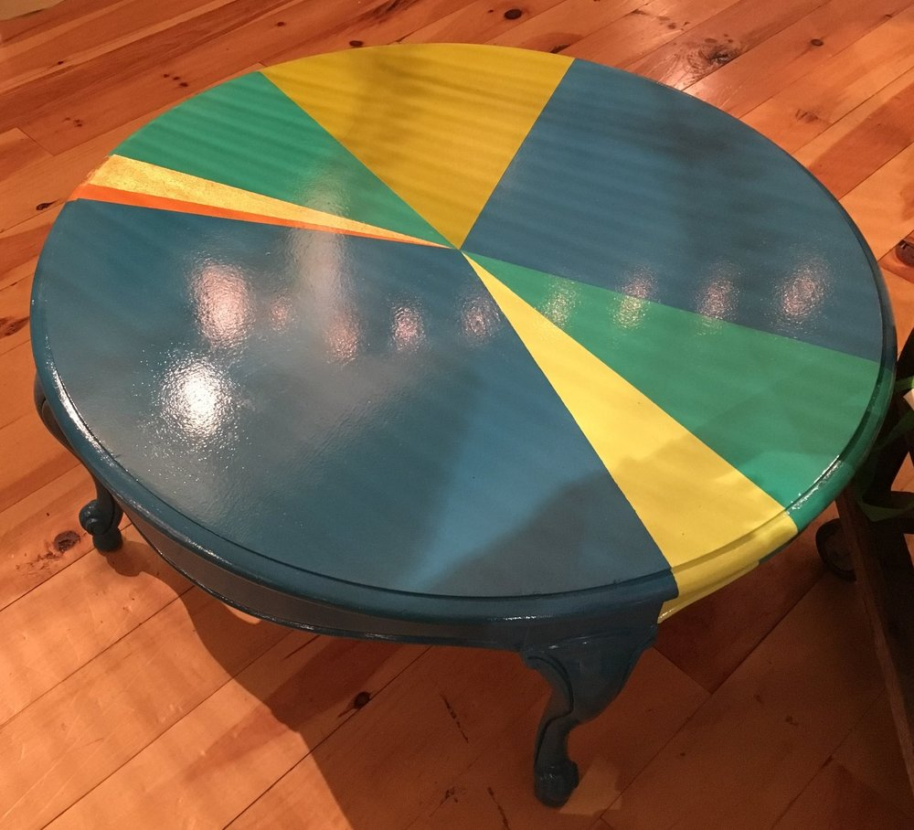 Tanglewood Works - Feel like your living room is a bit drab? Spice it up with this fun and colorful piece from Shaba Furniture! Available at Tanglewood Works. $375