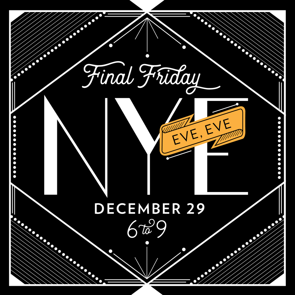 - Come celebrate the last Final Friday of the year at Workshop 4814 on December 29th, 6-9pm-ish! Tastings from Streetcar 82 Brewery, samples from Pizzeria Paradiso and live painting from artist Isak Shah of Artist & Craftsman. BYOVinyl, too! Don't forget to secure a space at Art Works for childcare!