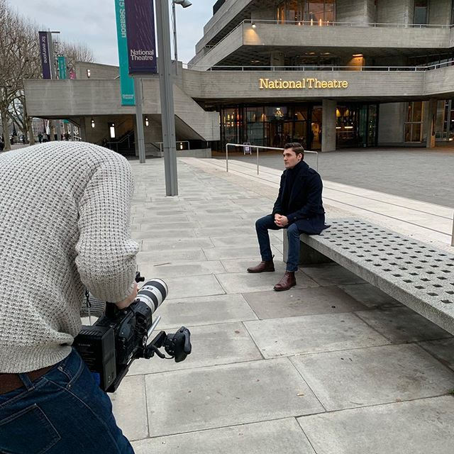 A gentle day of filming after the festive break at the @nationaltheatre for @artsedlondon #film #filmproduction #filmdirector