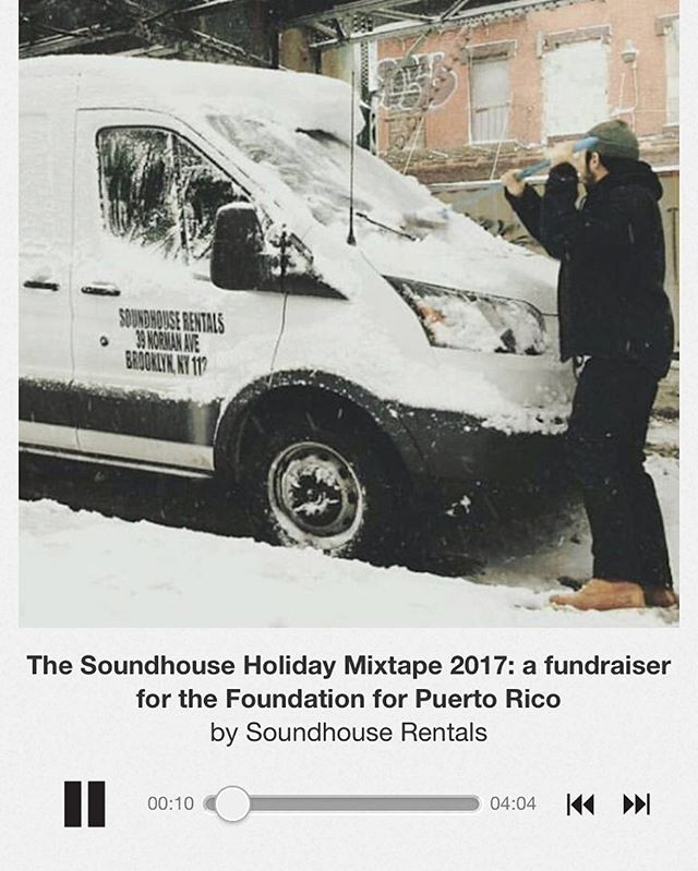 our friends at @soundhousenyc made a special mix tape to benefit Puerto Rico, please go to the link in our bio to find!  All proceeds go to @foundationforpr ❤️🇵🇷