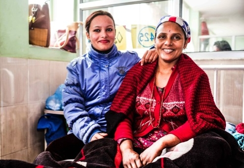 JANKA BHATTARAI  Janka Bhattarai (40 yrs.) with her daughter. Janka married when she was 17. She gave birth to five children, four of whom are alive. Janka developed first signs of prolapse when she was 22.