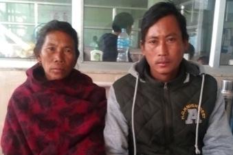 Kanchi Nagarkoti  Kanchi Nagarkoti (51 yrs.) with her son. Kanchi married when she was 16. She gave birth to four children. Kanchi found out that she had prolapse when she was 46.