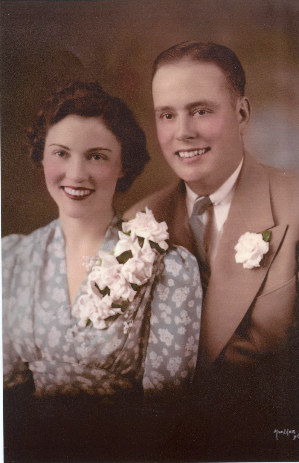 Dorothy & Jack on their wedding day.