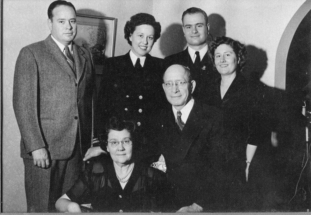 Clockwise: Jack, Kathleen, Harold, Alice, John & Stella Lankford