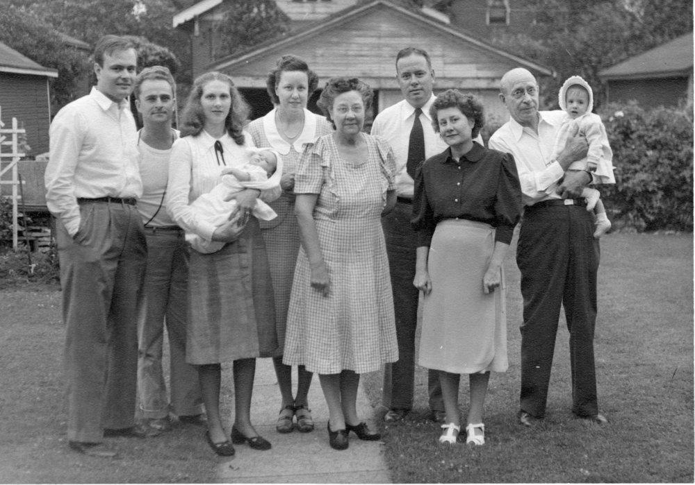 1948: Harold, Courtney, Marion, Jean, Kathleen, Stella, Jack, Alice, John and Janice