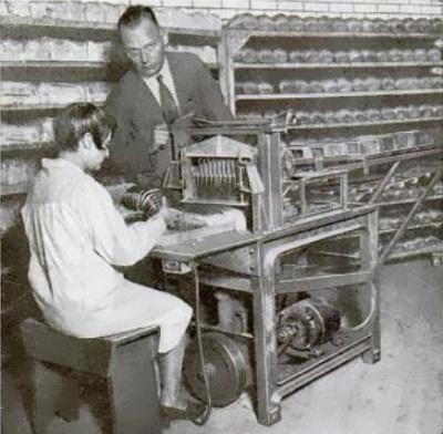 Sliced bread machine at work
