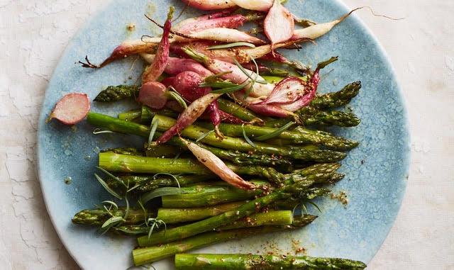 R oasted Asparagus and Radish with Mustard Tarragon Vinaigrette, eyeswoon