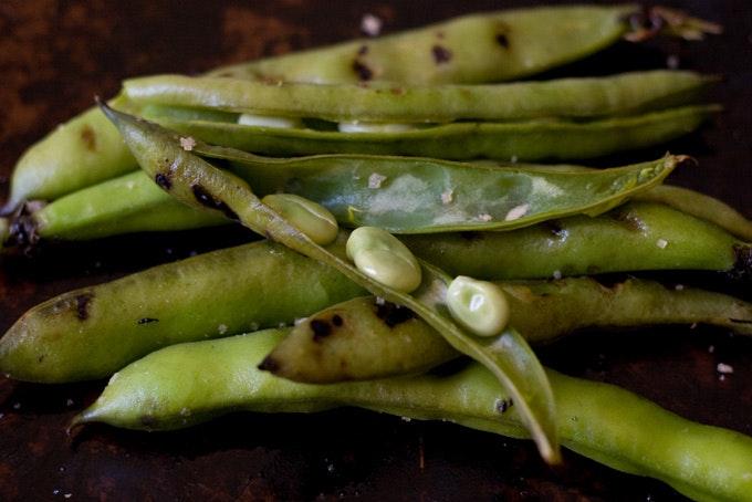 Grilled Fava Beans , 101 Cookbooks