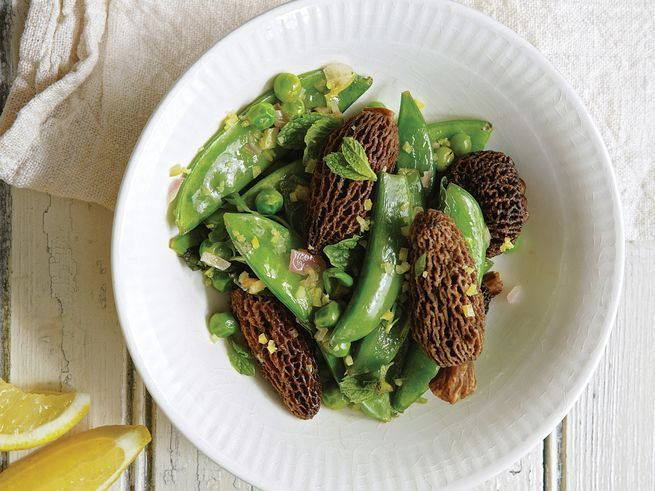 Morels with Mint, Pears and Shallot , Saveur Magazine