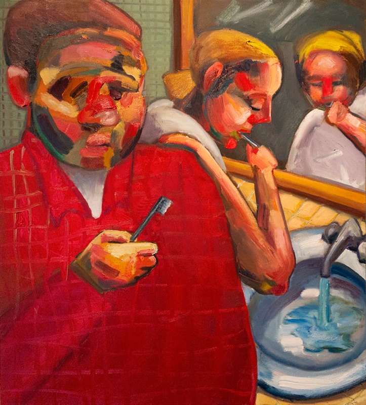 OEDIPUS BRUSHING HIS TEETH