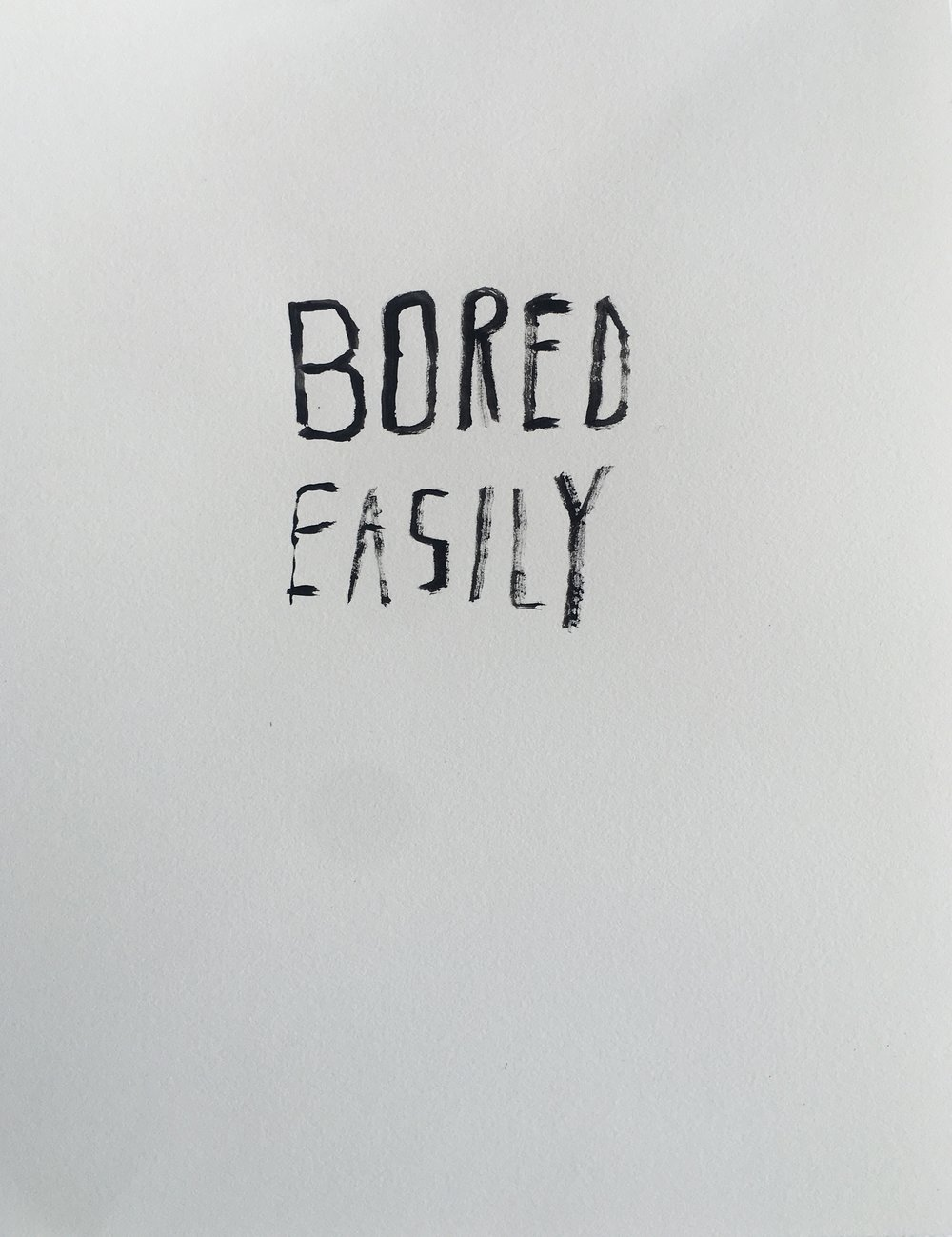 "Image from the exhibit ""Bored Easily"" by Josh Bolin"