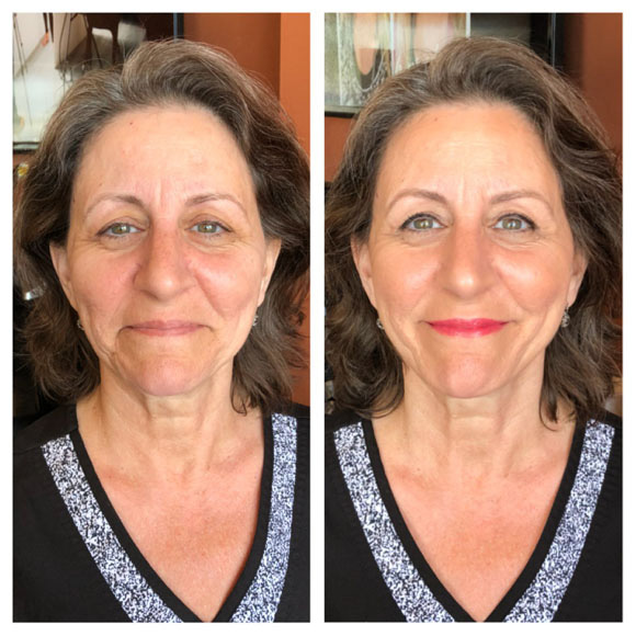 TIM Makeup before and after