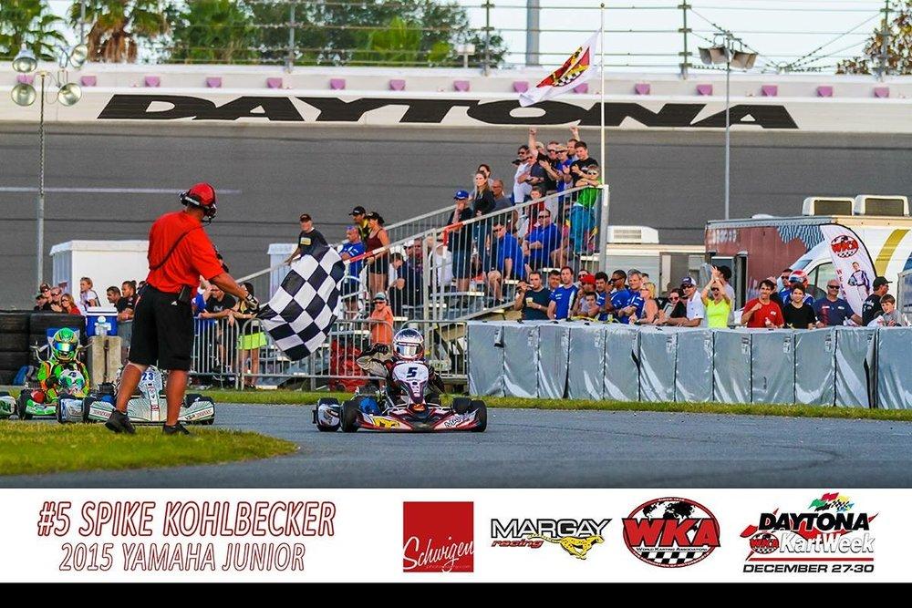 Spike wins Daytona Kart Week 2015.