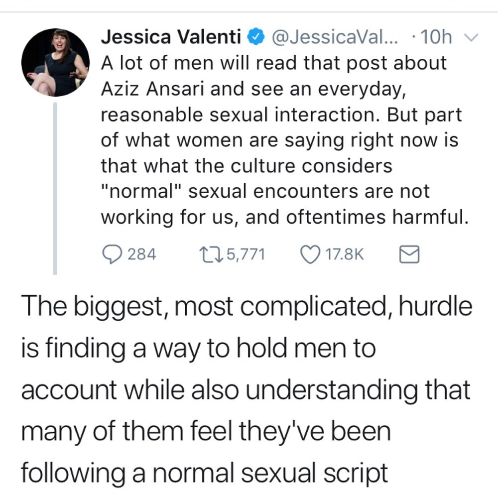 Two tweets from feminist writer Jessica Valenti