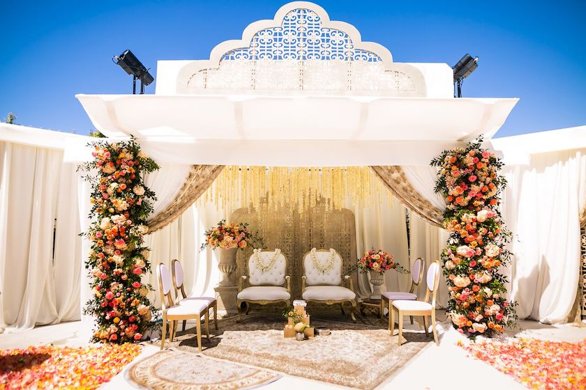 ceremony, indian wedding ceremony, ceremony site, wedding design, floral design, wedding flowers, shawna yamamoto, event design