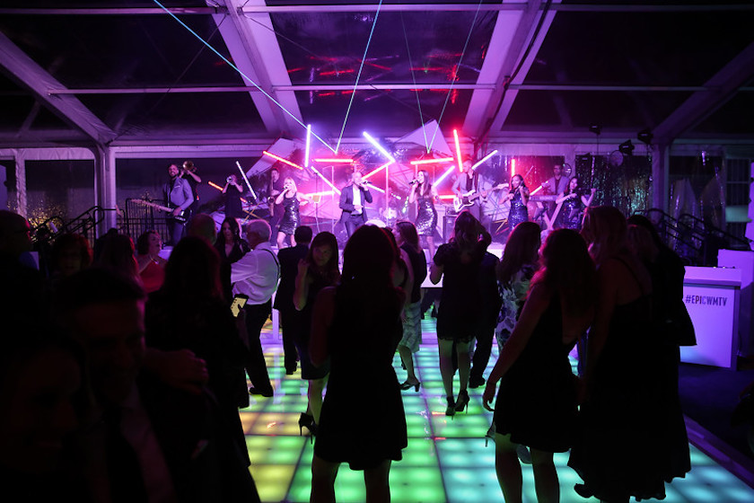 dance floor, neon, lighting, event design, grand opening, wmtv, shawna yamamoto