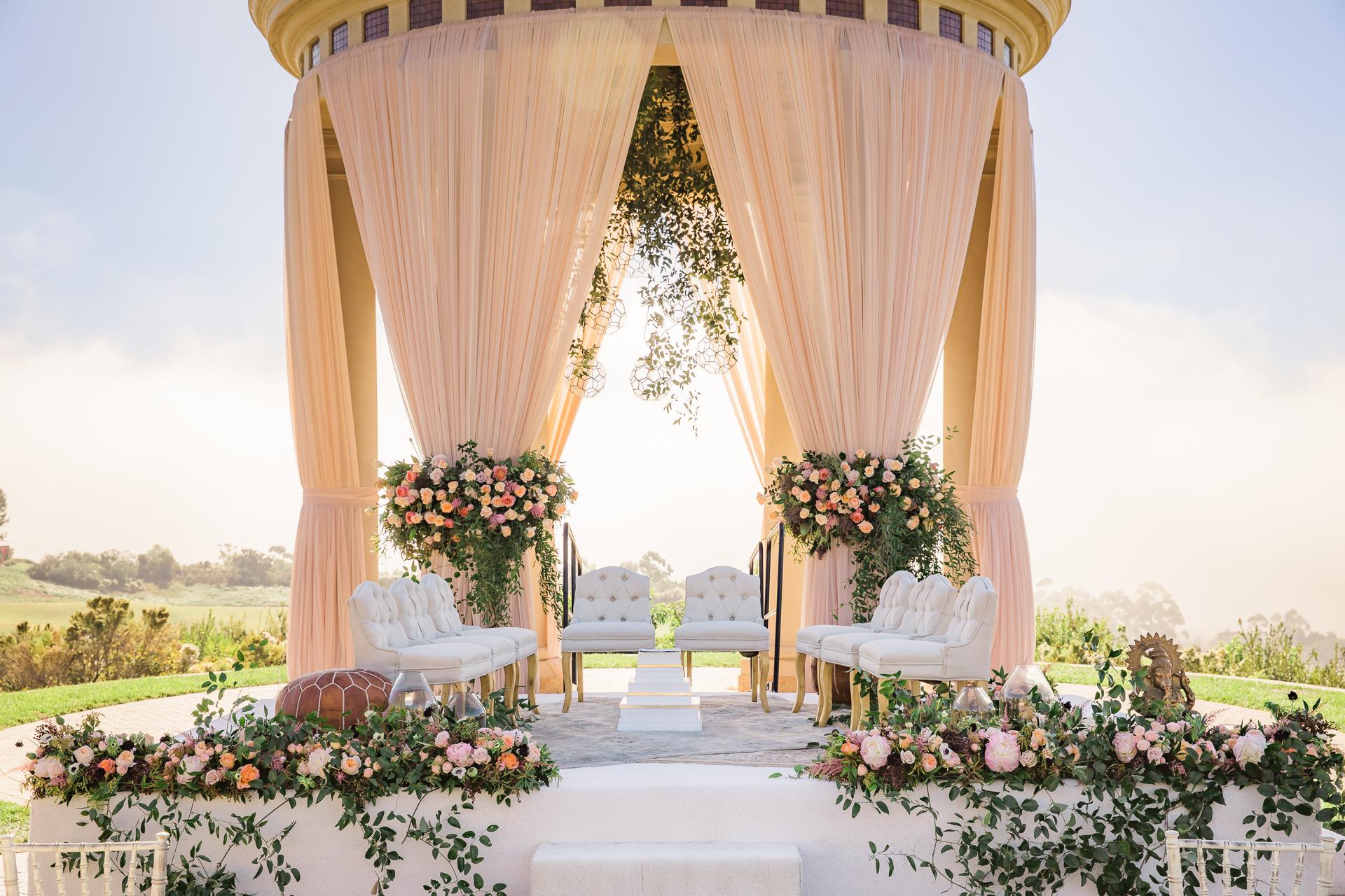 Good Garden Wedding At Pelican Hill Resort