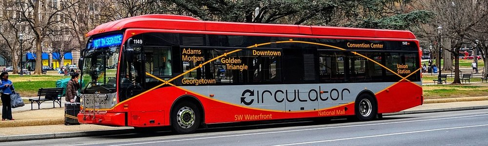 Circulator Bus in Downtown Washington, DC