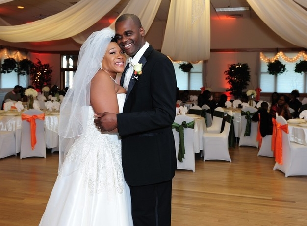 Newlyweds Dance Together in Cherry Hill Ballroom