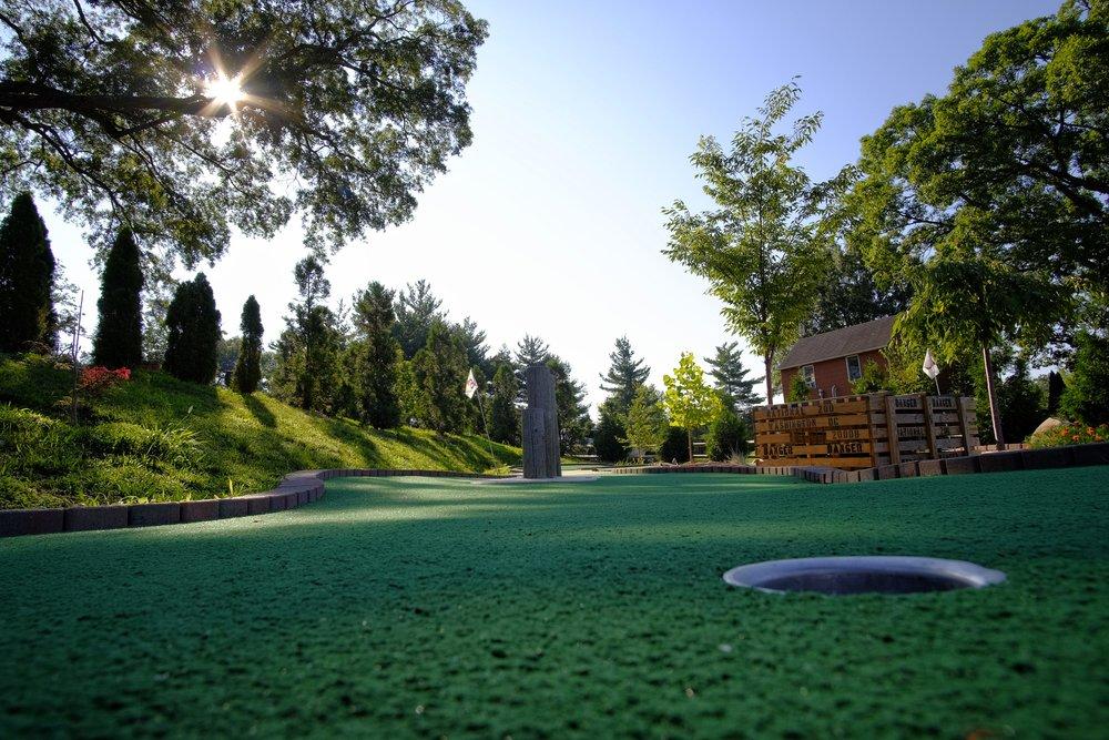Mini Golf Hole on the Green