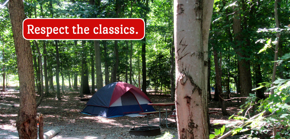 Tent in Wooded Campsite (Respect the Classics.)