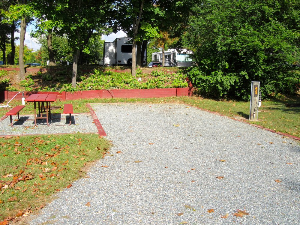 Standard RV Site with Gravel Surface and Picnic Area