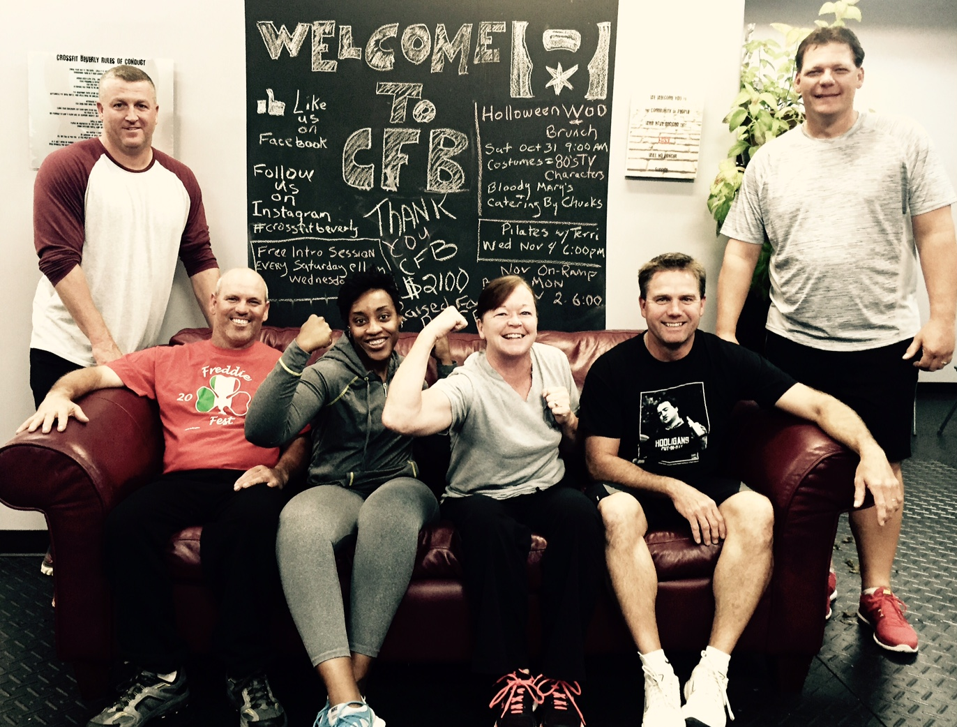 Congratulations October On-Ramp From Left:Mickey, Joe, Adrena, Liz, Mike, Jason